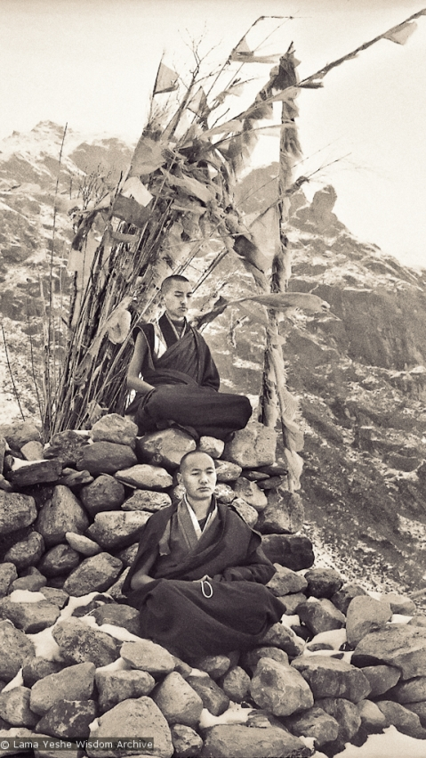 Rinpoche and Lama at Lawudo, 1969